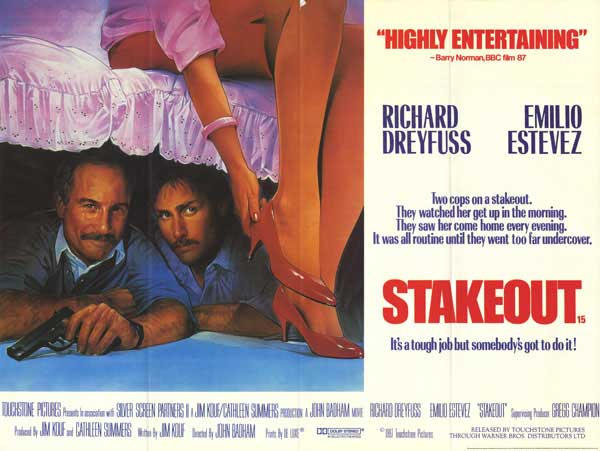 Stakeout (1987 film) MOVIE REVIEW Stakeout 1987 Bored and Dangerous