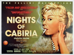 NIGHTS OF CABIRIA - UK Re-Release Poster