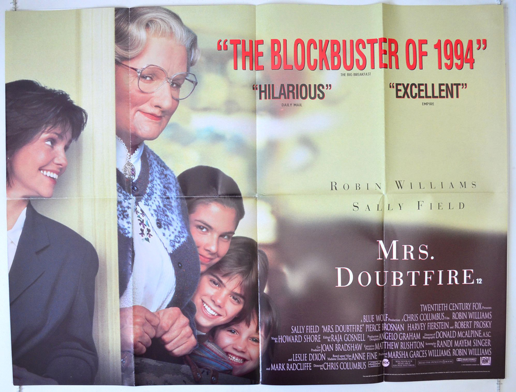 MOVIE REVIEW | Mrs Doubtfire (1993) – Bored and Dangerous