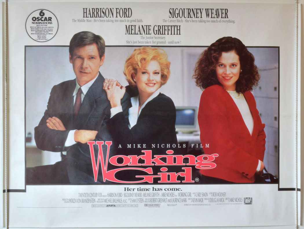 1988 Movie Posters: Working Girl (1988) – Bored And Dangerous