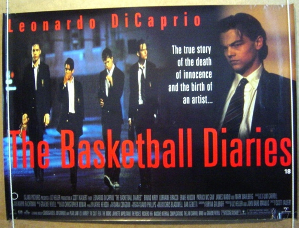 1995 Movie Posters: The Basketball Diaries (1995) – Bored And
