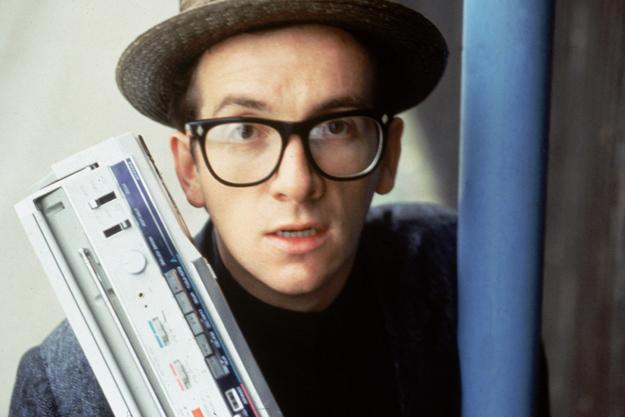 Elvis Costello With Portable Radio